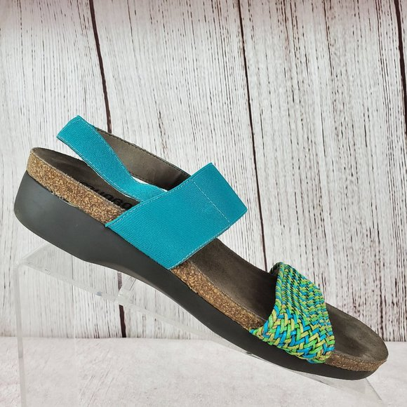 Munro Pisces Woven Slingback Wedge Sandals 9.5 M